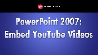 Microsoft PowerPoint 2007 Tutorial Embedding  Videos