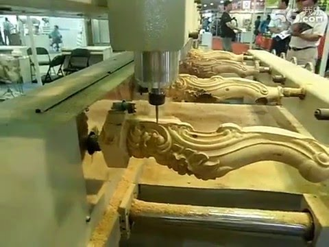 4 AXIS Rotary Muilple heads Wood CNC router for 3D Funiture Carving,Table.sofa legs carving