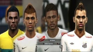 NEYMAR From PES 2011 To PES 2014 Face Evolution (Faces