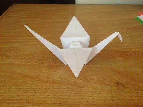 Cách gấp hạc giấy   Origami Swan