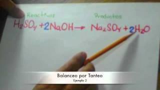 Química - Balanceo de ecuaciones por tanteo
