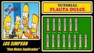 """Como tocar """"Los Simpsons"""" en flauta"""