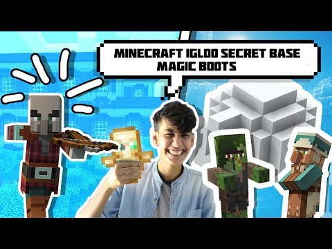 Minecraft Igloo Secret base☃️ With Magical Snow boot and woodland Mansion | Funny hindi minecraft PE