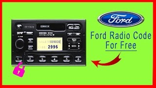 Ford Radio Code Get It For Free