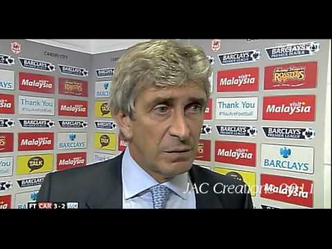 Manuel Pellegrini Post Match Interview Cardiff City 3-2 Manchester City 25/8/13