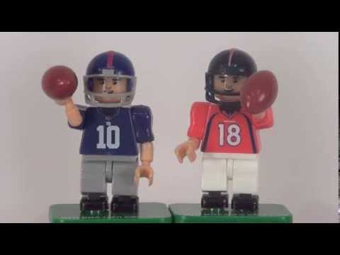OYO NFL Minifigures Review: Denver Broncos QB Peyton Manning & New York Giants QB Eli Manning