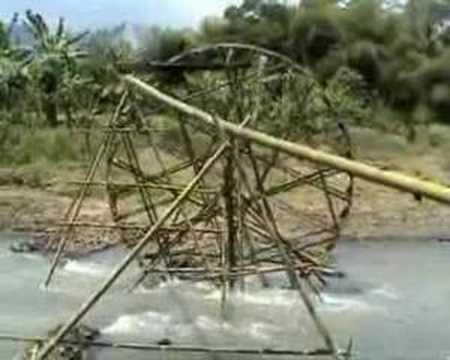 kincir air mampu atasi kekringan sawah petani