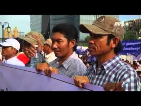 VTC14_Người Campuchia biểu tình phản đối vu cáo Việt Nam