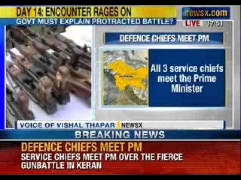 News X: Manmohan Singh meets Indian Army service chiefs. Takes stock of defence preparation