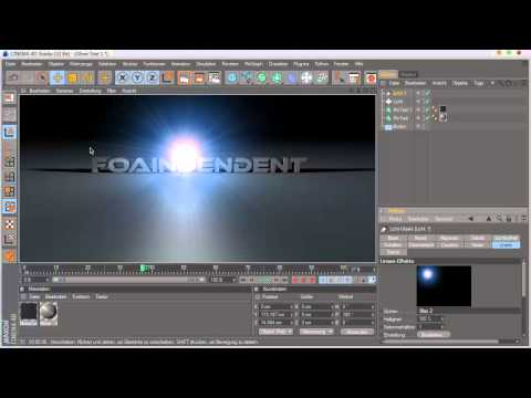 [FoA] Cinema 4D Tutorial - Licht Effect [german/Deutsch]