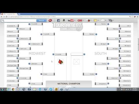 2013 NCAA Men's Basketball Tournament Bracket - Bracket 1