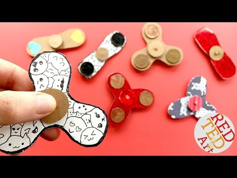 Easy Fidget Spinner WITHOUT Bearings TEMPLATE - How to make a Tri Fidget Spinner DIY