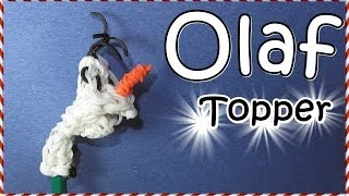 Rainbow Loom Bands OLAF Charm / Pencil Topper (Frozen
