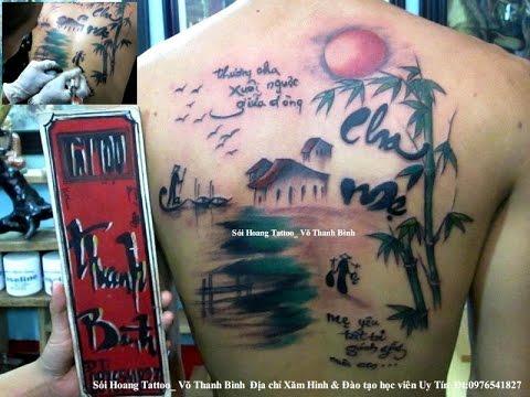 Cha mẹ hình xăm nghệ thuật Sói Hoang Tattoo_ Võ Thanh Bình