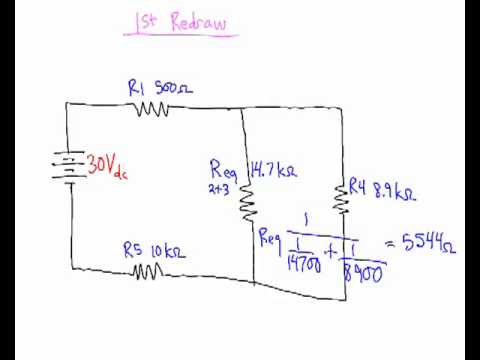 Solving a series parallel circuit