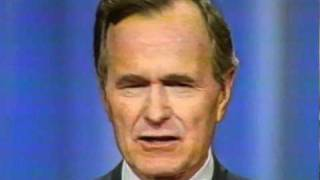 George Bush Senior Giving His Famous, Read My Lips, No New