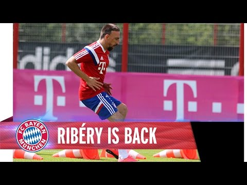 Franck Ribéry back in training