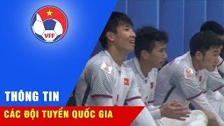 Niềm vui của BHL và các cầu thủ U23 Việt Nam sau kỳ tích lọt vào tứ kết VCK U23 châu Á 2018