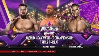 WWE 2K14 Daniel Bryan Vs Batista Vs Randy Orton