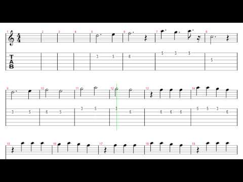 [Guitar Tab] Gravity Falls theme music