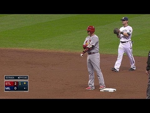 STL@MIL: Craig doubles to center, scores Carpenter