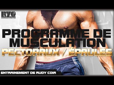 PROGRAMME de musculation - PECTORAUX / EPAULES