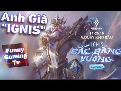 LIÊN QUÂN | Trải nghiệm Skin mới vừa ra mắt Ignis - Bắc Băng Vương cùng FUNNY GAMING TV