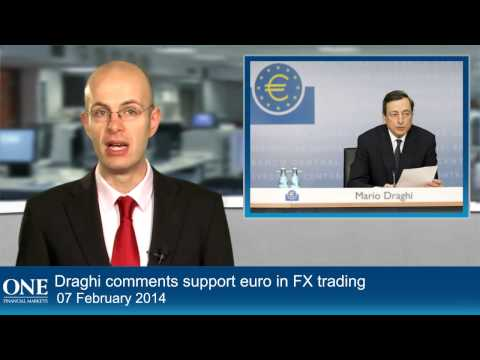 Draghi comments support euro in FX trading