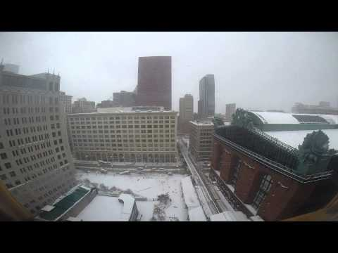Harold Washington Library Chicago, IL Snow Storm 1-1-14 1:30 PM