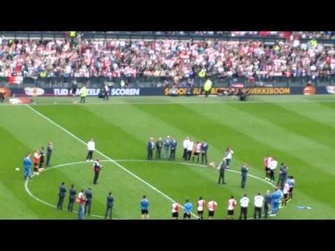 Afscheid Ronald Koeman tijdens Feyenoord - Cambuur
