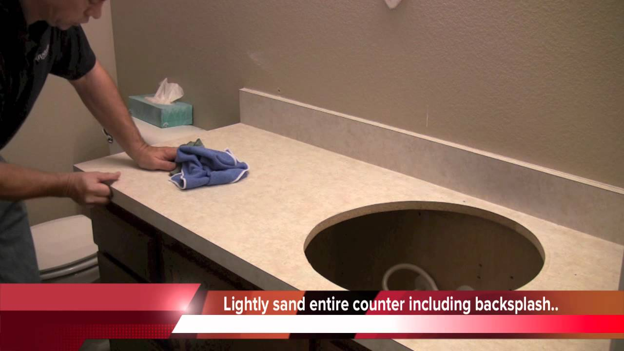 Countertop Prep: How to paint countertops - YouTube