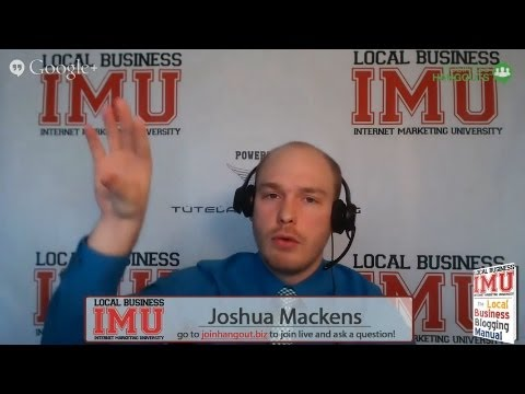 Blogging as a Local Business | LIVE Google+ Hangout on Air | Jan 10th 2014