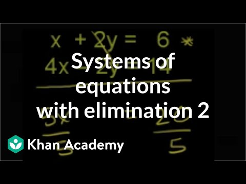 Addition Elimination 1