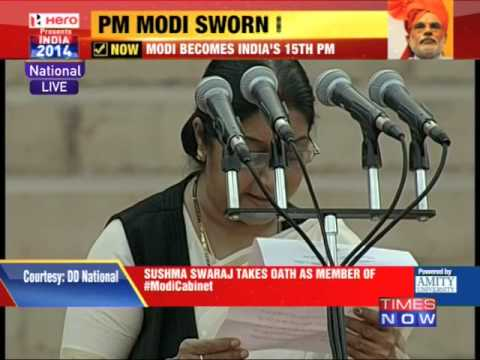Sushma Swaraj takes oath as member of Modi Cabinet