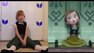 Do You Want To Build A Snowman? Frozen Cover Little Anna