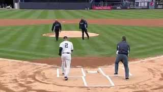 New York Yankees Opening Day 1st Pitch with Mariano Rivera & Andy Pettitte