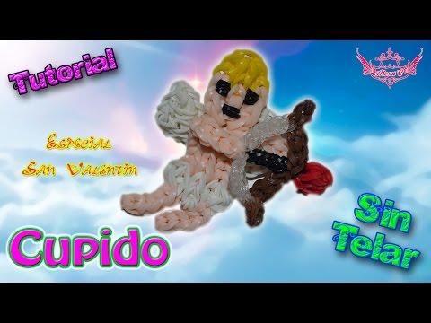 ♥ Tutorial: Cupido de gomitas (sin telar) ♥