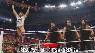 WWE RAW 4/7/14 Results/Highlights & Review, The Shield