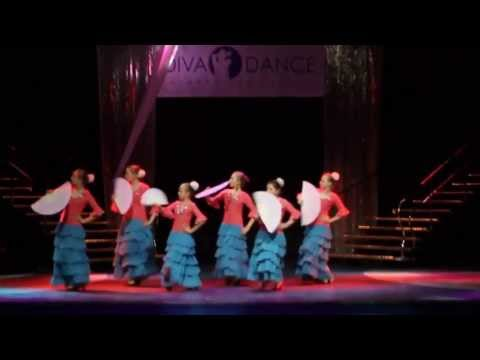 """Видео """"Детский отчетный концерт в Гигант-холле 02.06.13 года"""". Детское фламенко «Тангильо с веером»"""