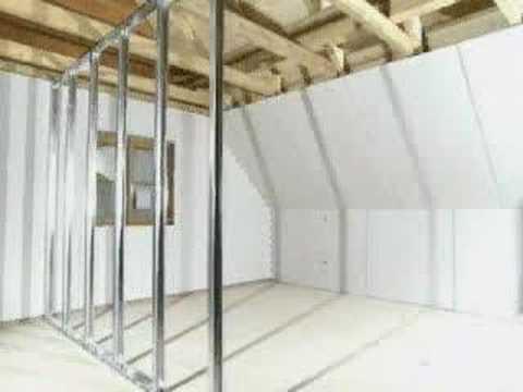 Konstrukcja ściany działowej  z płyty gipsowo-kartonowej