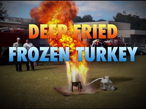 Why You Should NEVER Deep Fry a Frozen Turkey