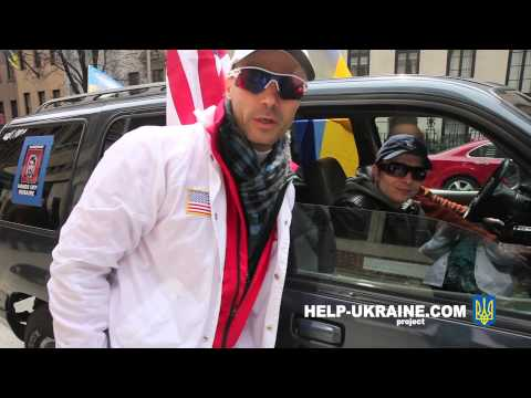 Help Ukraine Project finishing day at Auto Maydan in New York City