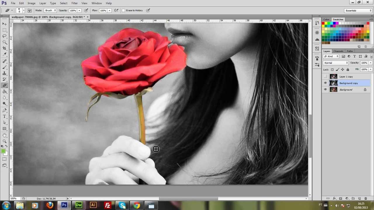 Tutorial #1: Imagem preto e branco com detalhes coloridos