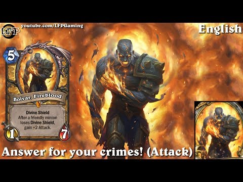 Hearthstone: Bolvar, Fireblood card sounds in 14 languages -Knights of the Frozen Throne -Legendary