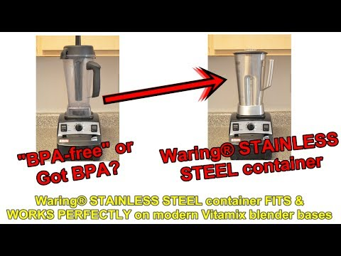 New Stainless Steel Container for Modern/Newer Vitamix Models