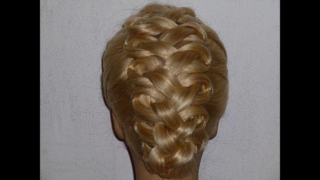 originelle frisur hochsteckfrisur zopffrisur ausgehfrisur high bun prom hairstyles peinados. Black Bedroom Furniture Sets. Home Design Ideas