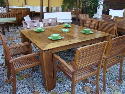 Mesas de madera de exterior