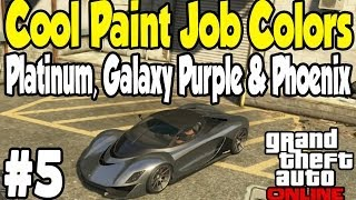 GTA Online COOL PAINT JOB GUIDE #5 (Platinum, Galaxy