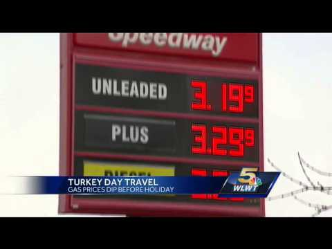 Midwest gas prices down for Thanksgiving travel
