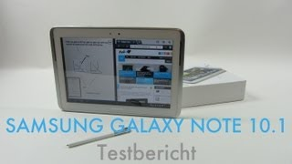 Samsung Galaxy Note 10.1 Testbericht Deutsch (Full HD